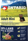 Ontario Adult Mini Lamb & Rice 6,5 kg