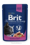 Brit Premium Cat kapsa Salmon & Trout 100g