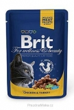Brit Premium Cat kapsa Chicken & Turkey 100g