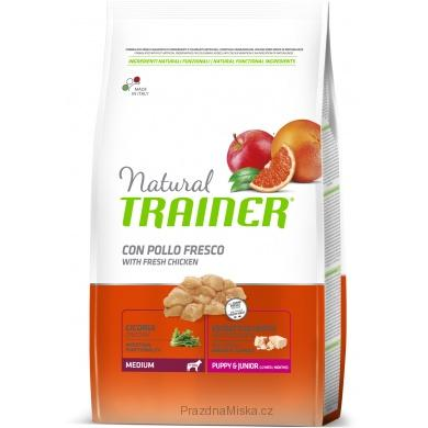 Trainer Natural Medium Puppy Junior Kuře 12kg
