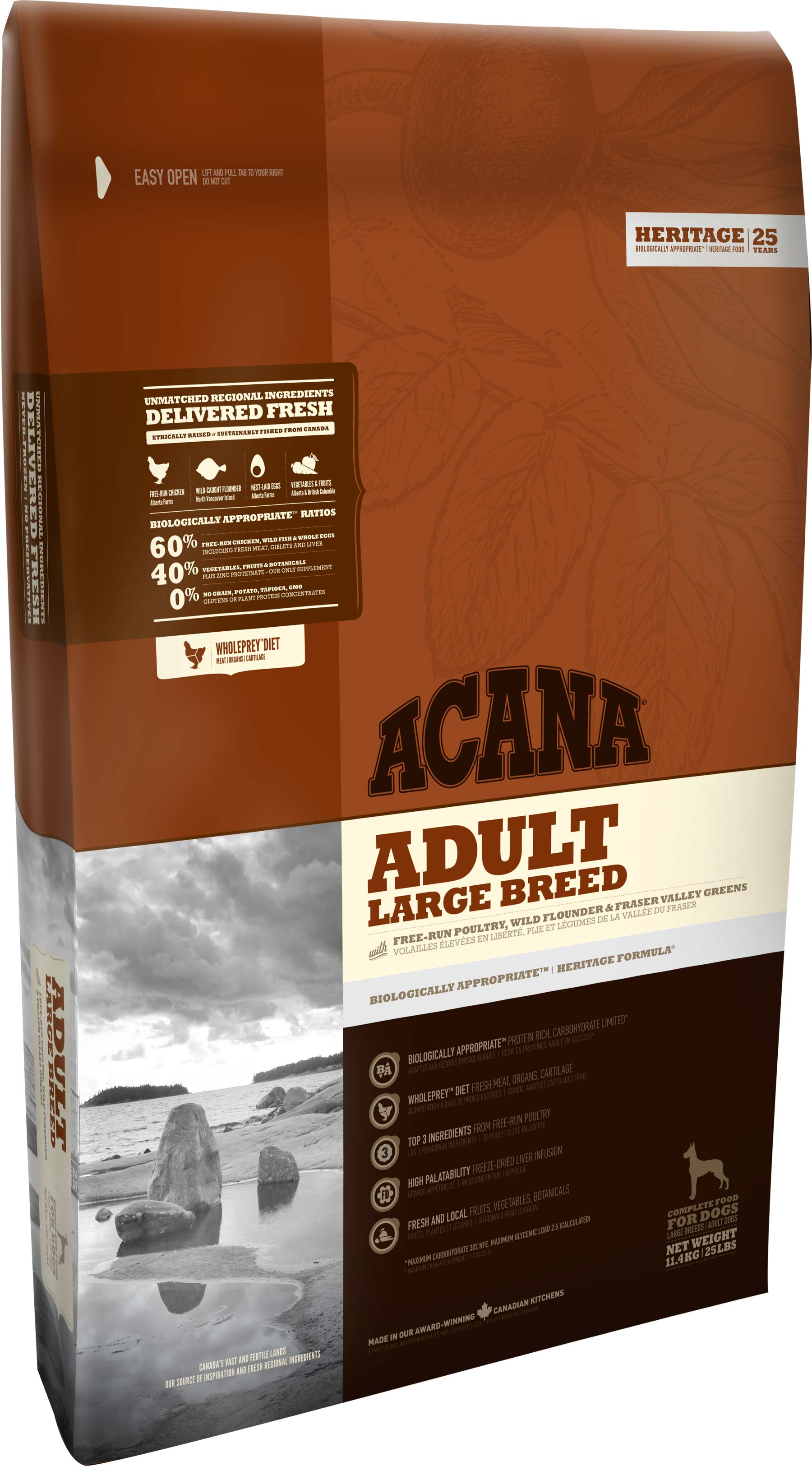 Acana Adult Large Breed Heritage Formula 17kg